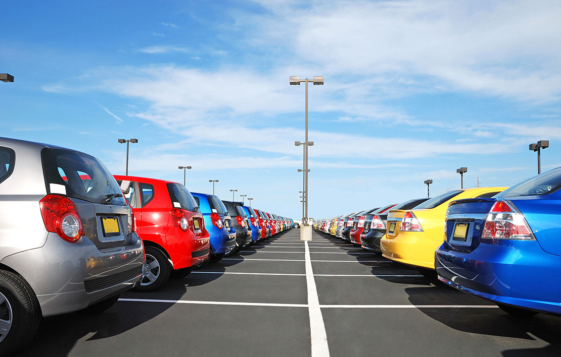 Cars parked in a parking lot