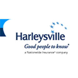 Harleysville Logo, Good people to know, A Nationwide Insurance Company